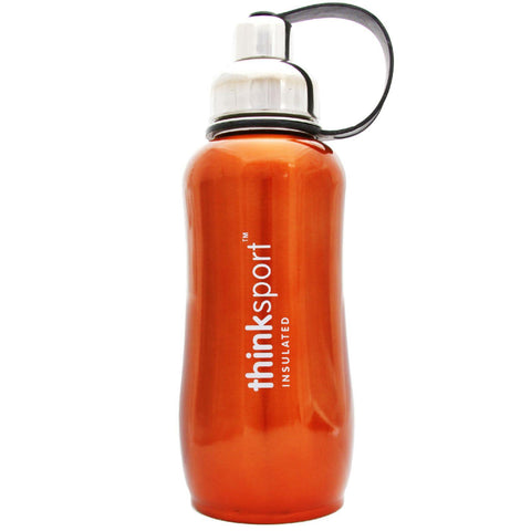 Thinksport Stainless Steel Sports Bottle - Orange - 25 Oz