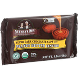 Newman's Own Organics Chocolate Cups - Organic Premium Super Dark Chocolate - Peanut Butter Centers - 1.9 Oz - Case Of 16