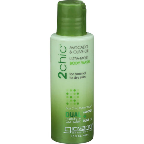 Giovanni Hair Care Products Body Wash Avocado And Olive Oil - Case Of 1.5 - 1.5 Fl Oz.