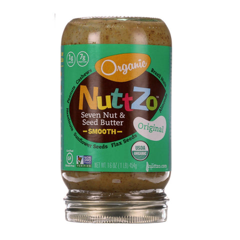 Nuttzo Spread - Organic - Seven Nut And Seed Butter - Creamy - Original  - 16 Oz - Case Of 6