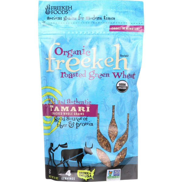 Freekeh Foods Roasted Green Wheat - Organic - Freekeh - Ancient Grain - Tamari - 8 Oz - Case Of 6