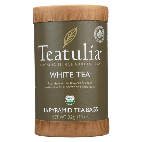 Teatulia White Tea  - Case Of 6 - 16 Bag