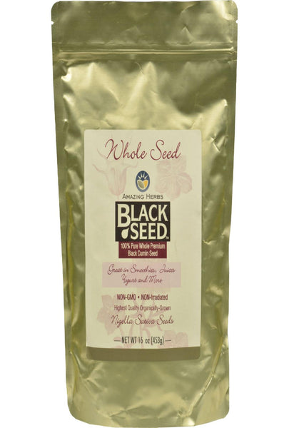 Amazing Herbs Black Seed Whole Seed - 16 Oz
