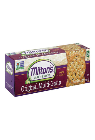 Milton's Snack Crackers - Original Multi-grain - Case Of 12 - 6.5 Oz.