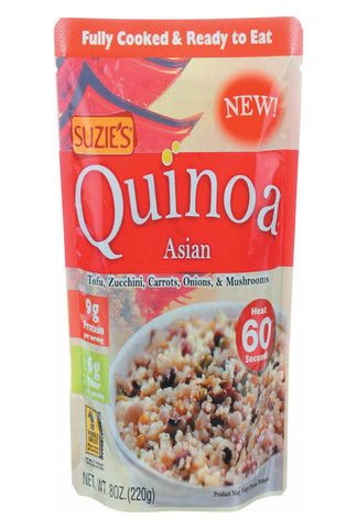 Suzie's Quinoa - Asian - Ready To Eat - Case Of 6 - 8 Oz
