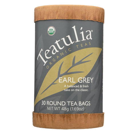 Teatulia Organic Teas - Earl Grey - Case Of 6 - 30 Count