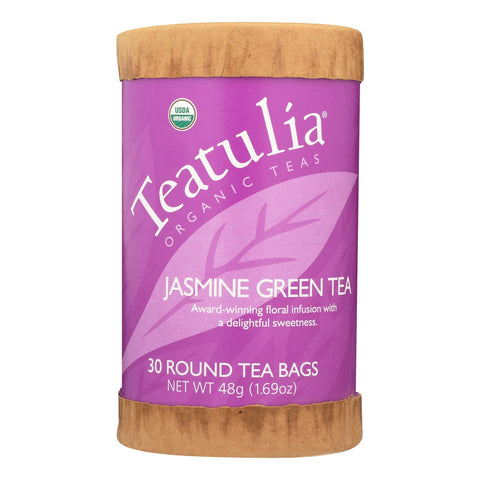 Teatulia Jasmine Green Tea  - Case Of 6 - 30 Ct