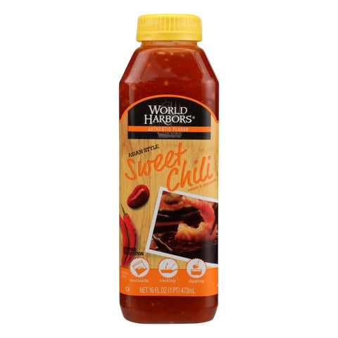 World Harbor Roasted Asian Style Sweet Chili Marinade And Sauce - Case Of 6 - 16 Fl Oz.