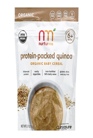 Nurturme Organic Protein Cereals - Packed Quinoa - Case Of 6 - 3.7 Oz.