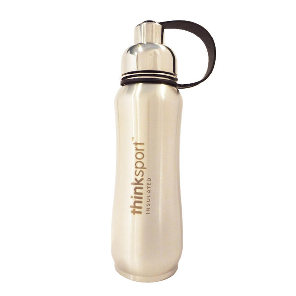 Thinksport Insulated Sports Bottle - Silver - 17 Fl Oz