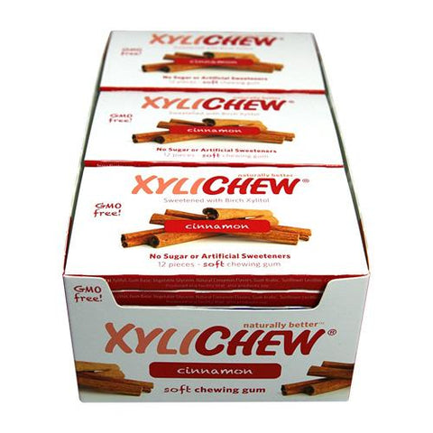 Xylichew Gum - Cinnamon - Counter Display - 12 Pieces - 1 Case