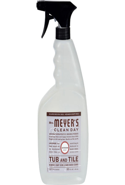Mrs. Meyer's Tub And Tile Cleaner - Lavender - 33 Fl Oz - Case Of 6