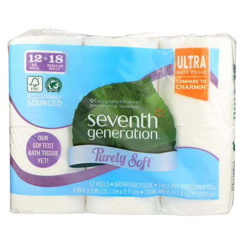 Seventh Generation Bath Tissue - 2 Ply - Soft - Case Of 4 - 12 Count