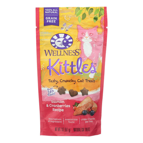 Wellness Pet Products - Cat Treat Kittles Slm&crn - Case Of 14 - 2 Oz