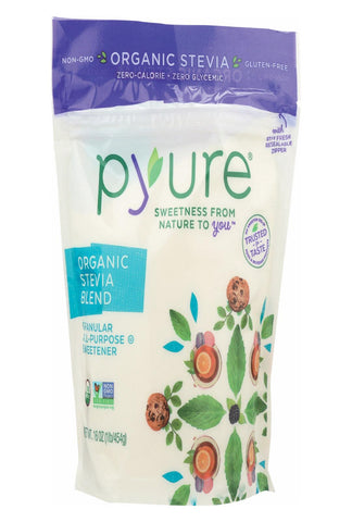 Pyure Sweetener - Organic Stevia - Case Of 6 - 16 Oz.