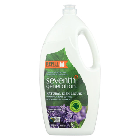 Seventh Generation - Liquid Dish Soap - Lavender And Mint - Case Of 6 - 50 Fl Oz.