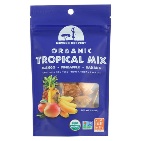 Mavuno Harvest - Organic Dried Fruit - Tropical Mix - Case Of 6 - 2 Oz.