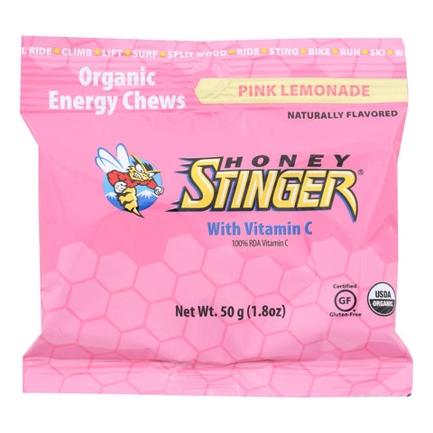Honey Stinger Energy Chews - Pink Lemonade - Case Of 12 - 1.8 Oz.