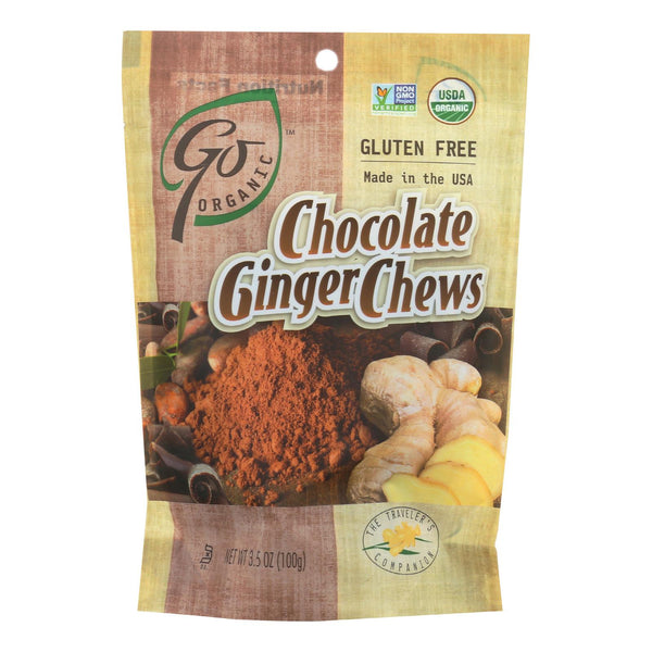 Go Organic Chocolate Ginger Chews - 3.5 Oz - Case Of 6