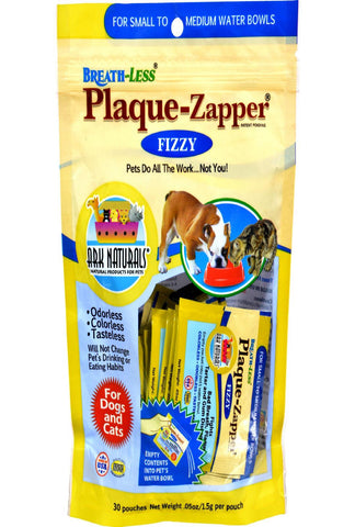Ark Naturals Breath-less Plaque-zapper - Fizzy - Small To Medium Pets - 30 Count