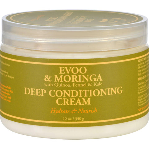Nubian Heritage Deep Conditioning Cream - Evoo And Moringa - 1 Each - 12 Oz.