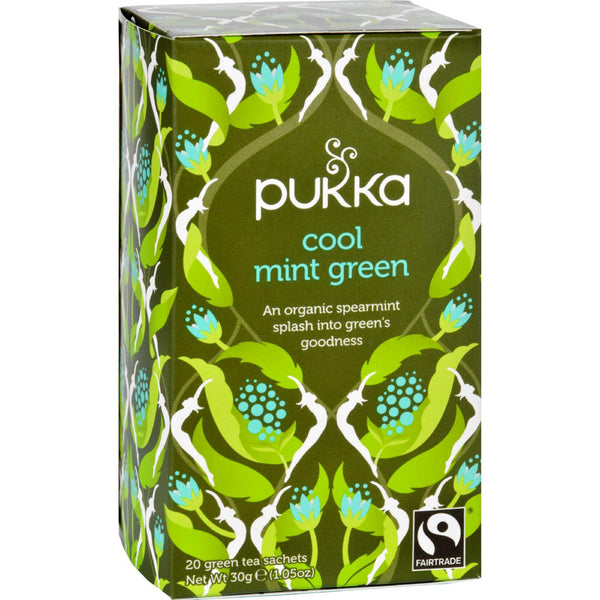 Pukka Herbal Teas Tea - Organic - Green - Cool Mint - 20 Bags - Case Of 6