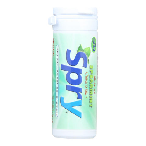 Spry Xylitol Gum - Spearmint - Case Of 6 - 30 Count