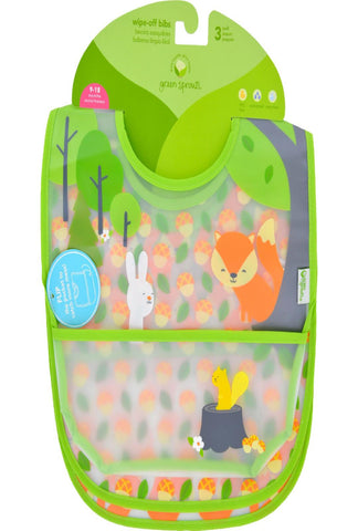Green Sprouts Bib - Waterproof - 9 To 18 Months - Forest - Assorted - 3 Pack