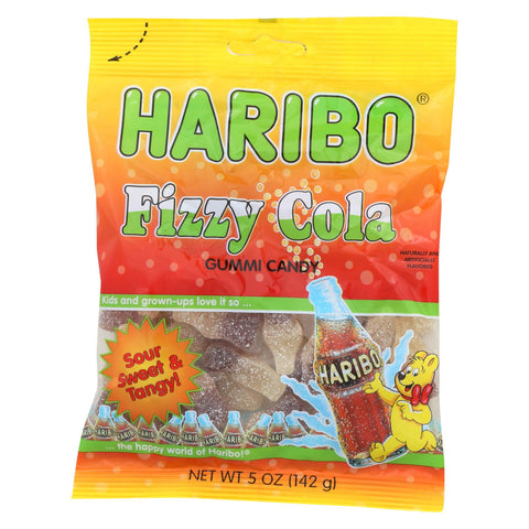 Haribo, Fizzy Cola Gummi Candy, Sour Sweet & Tangy! - Case Of 12 - 5 Oz