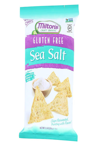 Miltons Gluten Free Baked Chips - Sea Salt - Case Of 12 - 5.5 Oz.