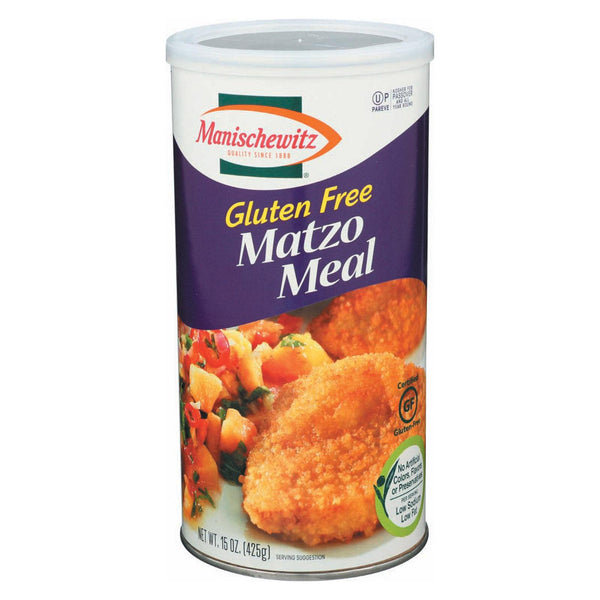 Manischewitz Matzo Meal - Gluten Free - Case Of 12 - 15 Oz