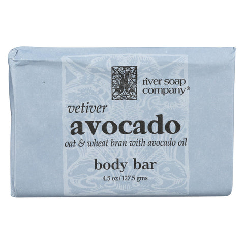 River Soap Company Bar Soap - Vetiver Avocado - 4.5 Oz.