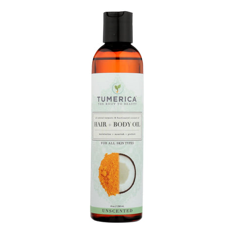 Tumerica Hair And Body Oil - Coconut - Turmeric - 8 Oz