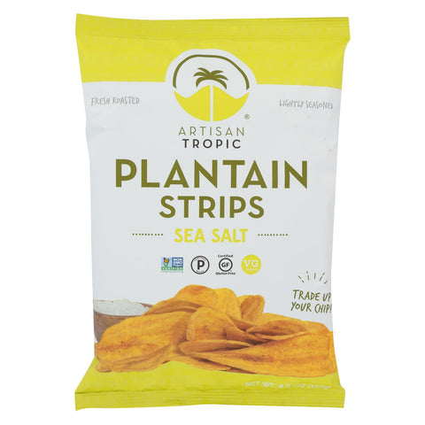 Artisan Tropic Plantain Strips - With Sea Salt - Case Of 12 - 4.5 Oz.