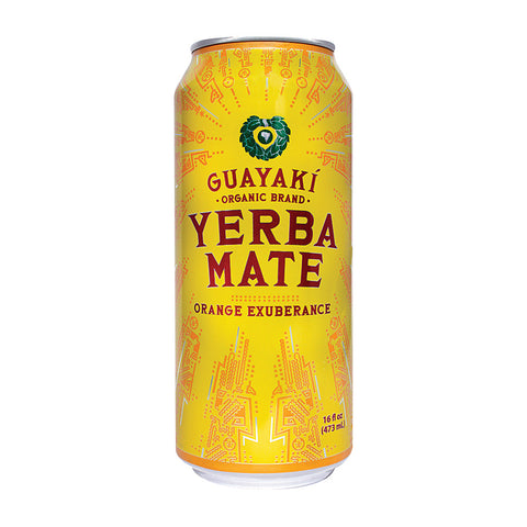 Guayaki Yerba Mate - Orange Exuberance - Case Of 12 - 15.5 Fl Oz.