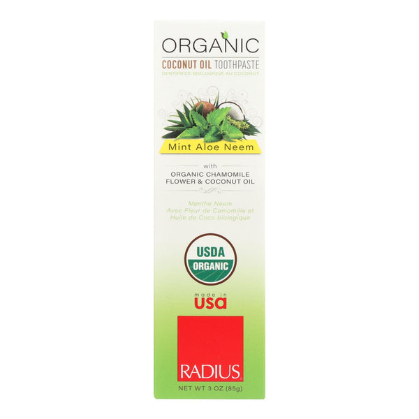 Radius Toothpaste - Mint, Aloe And Neem - Case Of 6 - 3 Oz.