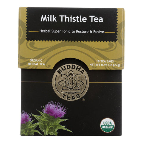 Buddha Teas - Organic Tea - Milk Thistle - Case Of 6 - 18 Count