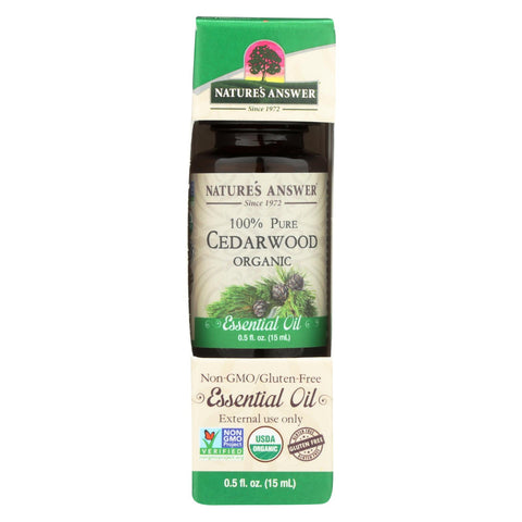 Nature's Answer - Organic Essential Oil - Cedarwood - 0.5 Oz.