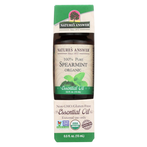 Nature's Answer - Organic Essential Oil - Spearmint - 0.5 Oz.