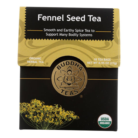 Buddha Teas - Organic Tea - Fennel Seed - Case Of 6 - 18 Count