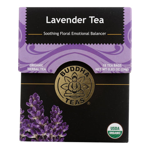 Buddha Teas - Tea Organic Lavender - Case Of 6 - 18 Bag