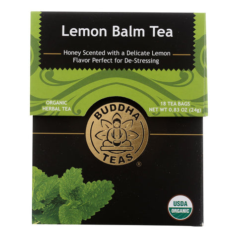 Buddha Teas - Tea Organic Lemon Balm - Case Of 6 - 18 Bag