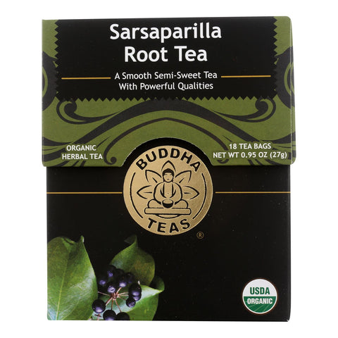 Buddha Teas - Tea Organic Sarsaparilla - Case Of 6 - 18 Bag