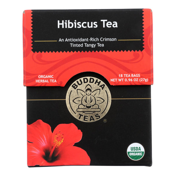 Buddha Teas - Organic Tea - Hibiscus - Case Of 6 - 18 Count