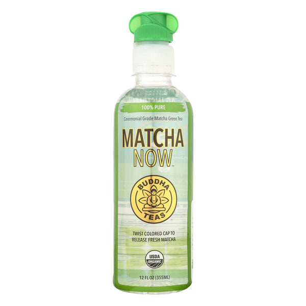 Buddha Teas Matcha Now Green Tea - 100% Pure - Case Of 12 - 12 Oz.