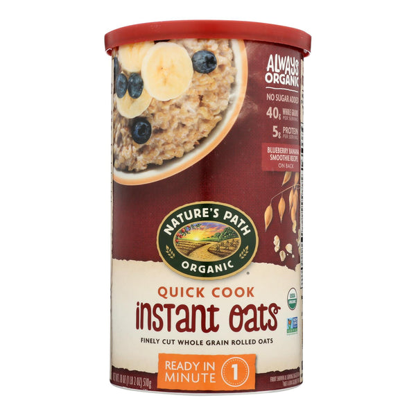 Nature's Path Quick Oats Hot Cereal  - Case Of 6 - 18 Oz