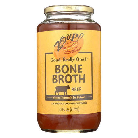 Zoup! Good, Really Good - Bone Broth - Beef - Case Of 6 - 31 Fl Oz.