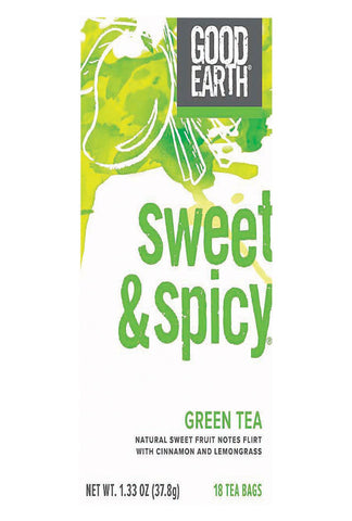Good Earth Green Tea - Sweet & Spicy - Case Of 6 - 18 Count