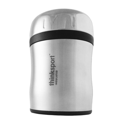 Thinksport Insulated Food Container With Spork - Silver