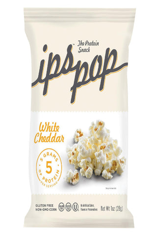 Ips Chips With Protein Popcorn - White Cheddar - Protein - Case Of 24 - 1 Oz